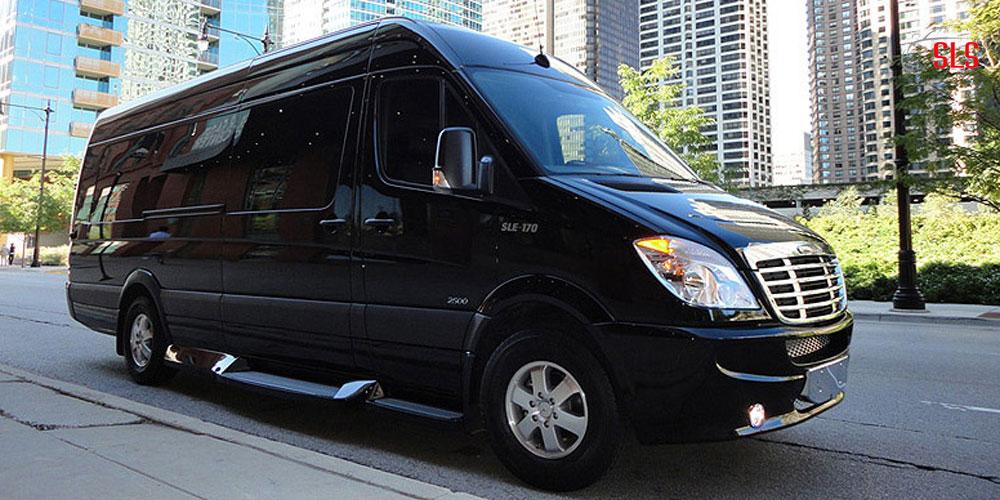 12 Passenger Mercedes Sprinter Shuttle Van Singh Limo